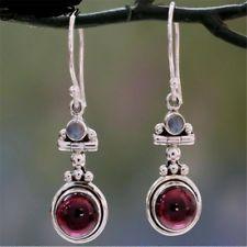 Bohemia Dangle Drop Purple Stone Earrings For Women Indian Ethnic Tibetan Silver Earrings Vintage Earings Fashion Jewelry Gifts Moonstone Earrings, Sterling Silver Earrings, Women's Earrings, 925 Silver, Silver Rings, Pendant Necklace, Jewelry Gifts, Jewelry Accessories, Jewelry Design