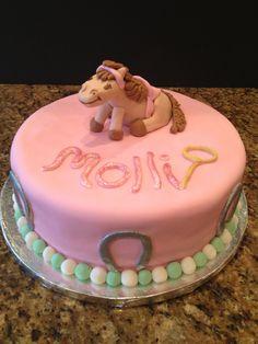 Cowgirl birthday cake, pony cake