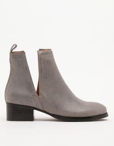 gray cut out ankle boot  - I'm loving the cut-out ankle boots.. #Emerson Fry has a few gorgeous pair this season, as well.