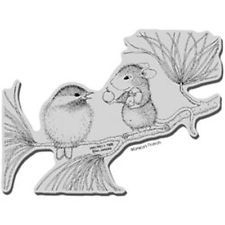 """Berrying Gifts - Stampendous House Mouse Cling Rubber Stamp 4""""X6"""" Sheet"""