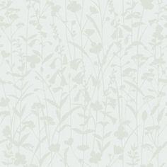 Klä väggarna i ett mönster där blommor och blad vackert slingrar sig uppåt längs väggen.