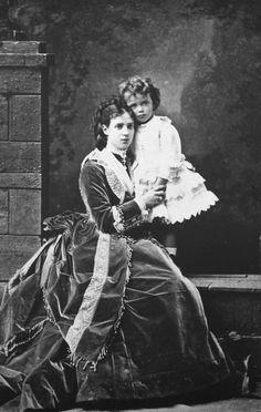 Maria Feodorovna and Nicholas as a toddler 1870