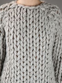 Mm6 By Maison Martin Margiela Heavy Knit Sweater