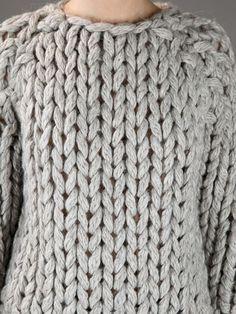 Mm6 By Maison Martin Margiela Heavy Knit Sweater -  - Farfetch.com