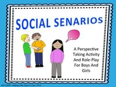 Perspective Taking Activity: Social Scenarios/Role Plays This is a fun way to teach perspective taking to children who struggle to understand this important concept. Included are scenario cards for older children, younger children, and picture cards. This activity lends itself well to great discussions.