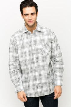 Tartan Check Button Down Shirt