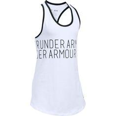 Girls 7-16 Under Armour Dazzle Wraparound Graphic Tank Top, Size: Medium, White