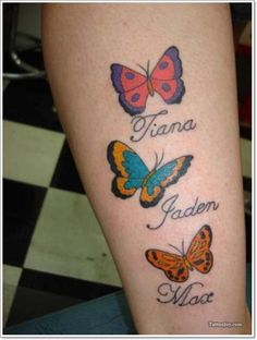 Butterflies tattoo design with names. Find and save ideas about Butterflies tattoo design with names on Tattoos Book. More than FREE TATTOOS Butterfly Tattoos Images, Butterfly Name Tattoo, Butterfly Tattoo Designs, Tattoo Images, Hand Tattoos, Sexy Tattoos, Tattoos For Women, Tattoos For Guys, Tattoo Designs And Meanings