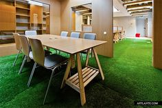 nice meeting spaces with astroturf