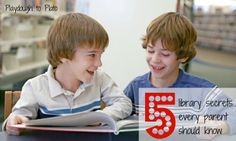 5 library secrets every parent should know. Includes free activities children will love.