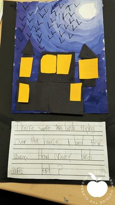 Combine math problem solving and art with this fun thematic Halloween project. Students create a fun Halloween haunted house scene and write a word problem using addition, subtraction, multiplication, or division. Students build problem solving skills as they work through the parts of the story problem. This fun Halloween project is easily applied in 1st grade, 2nd grade, or 3rd grade. #Halloween