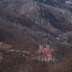 A castle or a church somewhere in the mountains of Basque Country, Spain.