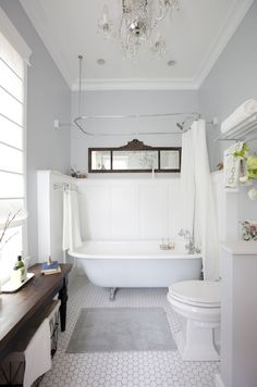 Bathroom wainscoting is decorative, but it also helps protect the walls from splashes of water, especially near the sink. Bathroom wainsco