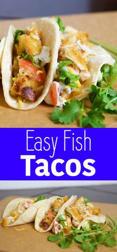 Yummy Crispy Fish Tacos- easy recipe, great mid-week dinner