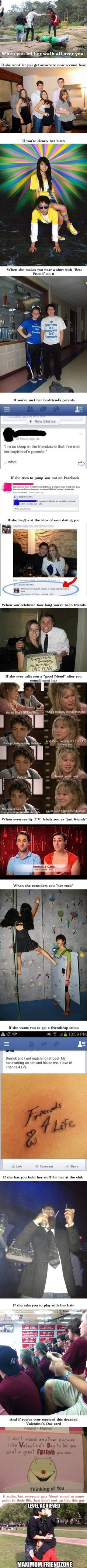 You know you are friendzoned when...