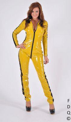 yellow dress xl latex