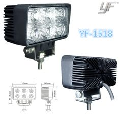 18w led work light led work lamp IP67 CE RoHS any interests in, call me, let's talk more yf12@yufengltd.com