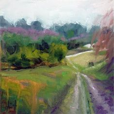 LIZA HIRST   - semi-abstract landscape by Liza Hirst.
