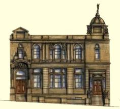 Dennistoun Library, Glasgow early 1900s baroque style by James Robert Rhind