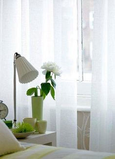 soft diffused light through linen voile #natrualcurtaincompany