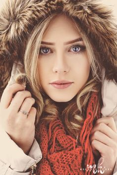 I love this post for a winter senior picture of a girl. So captivating.