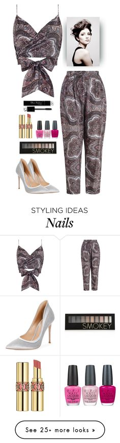 """#34"" by owl00 on Polyvore featuring Zimmermann, Gianvito Rossi, Forever 21, OPI, Yves Saint Laurent and Angelo"