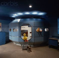 Child's Bedroom with Spaceship Bed