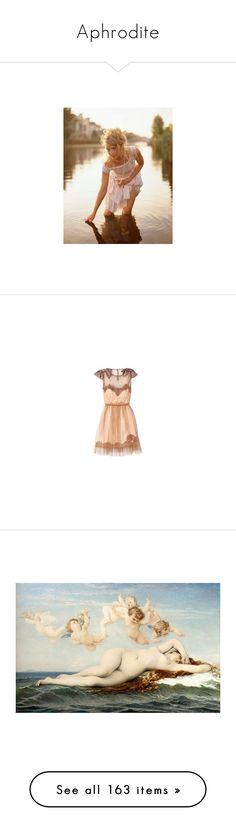 """""""Aphrodite"""" by liz-wade ❤ liked on Polyvore featuring pictures, people, models, backgrounds, site models, dresses, vestidos, платья, short dresses and photos"""