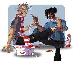 A valentine of Blitzen and Hearthstone from the Magnus Chase series. Hope you guys like them Blitzstone Arte Percy Jackson, Percy Jackson Ships, Percy Jackson Fandom, Magnus Chase Books, Alex Fierro, Percy Jackson Characters, New Gods, Rick Riordan Books, Uncle Rick