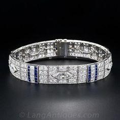 Art Deco Diamond Bracelet - 40-1-4019 - Lang Antiques