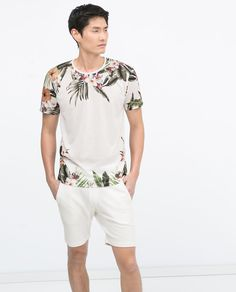 Image 1 of FLOWERS T-SHIRT from Zara