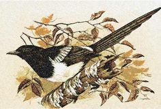 Autumn bird photo stitch free embroidery design - Photo stitch embroidery designs - Machine embroidery community