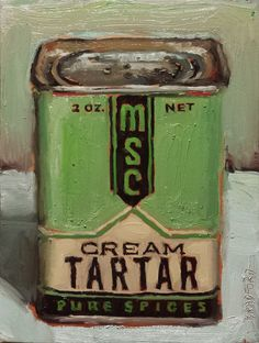 MSC Cream Tartar 12 x 9 inches oil on canvas available by Bradford J. Vintage Tins, Vintage Labels, Vintage Kitchen, Still Life 2, Bob Ross Paintings, Drawing Projects, Paint Effects, Art Plastique, Artist Art