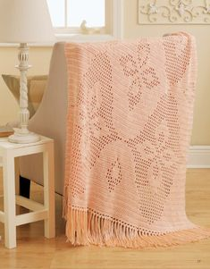 Filet Afghans - Filet crochet isnít just for doilies anymore! These eight charted designs for afghans finish quickly, with pretty images of birds in flight, easy geometrics, a delicate butterfly, or Art Deco florals. Youíll race through the rows of simple stitches, adding the lacy look of filet crochet to your home in a bold new wayówith an afghan for every room!  8 Designs by Michele Mireau to crochet using medium weight yarn: Mulberry Ripple, Blue Seagull Fantasy, Blueberry Diamonds, ...
