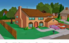 The Simpsons House Reimagined In 8 Different Architectural Styles Boy Meets World, Breaking Bad, Bel Air, Harry Potter Casas, Game Of Thrones, Different Architectural Styles, Tan Walls, Cartoon House, Casa Real