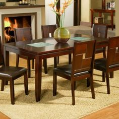 Alpine Furniture Lakeport Extension Dining Table - Espresso - Dining Tables at…