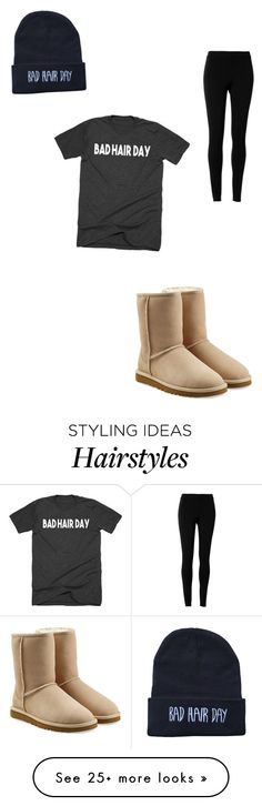 """""""Bad hair day outfit"""" by jellybean016 on Polyvore featuring UGG Australia and Max Studio"""