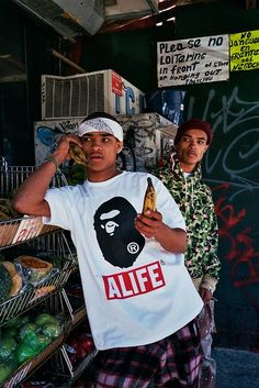 """A Bathing Ape have released their latest collaboration with New York brand ALIFE for Spring Summer 2015. Combining both brands' recognizeble signature graphics, BAPE's 1st camo and ALIFE's box logo. The collection features a series of tees, como caps and a camo shark hoodie. Look<a class=""""read-more"""" href=""""http://www.onlycoolstuff.net/a-bathing-ape-x-alife-spring-summer-2015-lookbook/""""> ...Read More</a>"""
