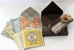 Stampin' Up! Envelope Punch Board gift card and envelope box. Claire Daly, Melbourne Australia. Other envelope punch board projects on the post.
