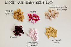 toddler valentine snack mix | toddler trail mix