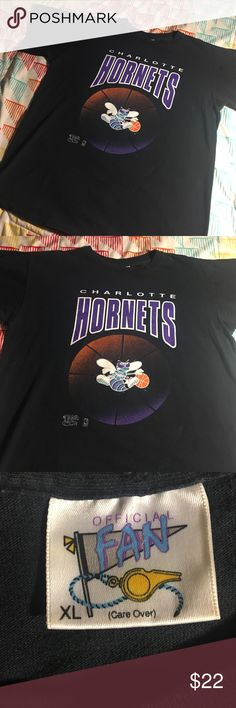 Vintage Charlotte Hornets Basketball NBA shirt Size XL - excellent condition official fan  Shirts Tees - Short Sleeve