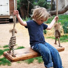 Here's a great way to recycle: repurpose a pine floor joist from a 19th-century house as the perfect swing for your yard. Handmade in Pennsylvania, the tree swing encourages kids and the young at heart to let loose and have a little fun in the outdoors.