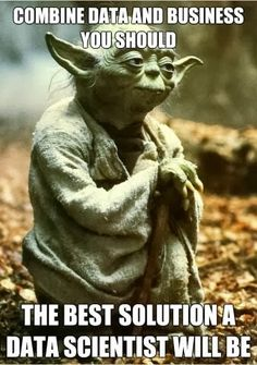 """""""Combine Data and Business you should - the best solution a Data Scientist will be""""...Also in the Star Wars universe, the need of data science is already known."""