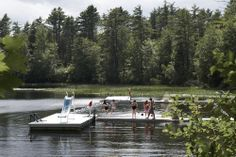 The best place for a swim at Camp Walden Walden Pond.