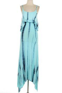 60916fad11b4 Beach Therapy Tie-Dye Maxi Dress - Blue Dressy Dresses