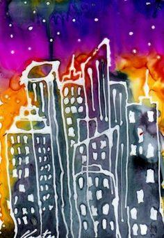 """City1"" - Original Fine Art for Sale - © Kristen Dukat"