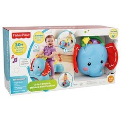 Fisher-Price Bounce, Stride + Ride Elephant