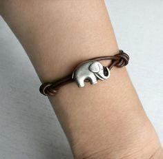 Elephant Leather Bracelet. NEED!!!