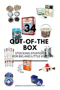 I love finding out-of-the box stocking stuffers for my kids. Nothing bugs me more than spending money on a bunch of stuff that ended up in the garbage in a month. Here's my list of 34 unique, favorite stocking stuffers.
