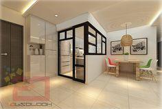 HDB 5-Room BTO @ Blk 279B Compassvale Ancilla - Interior Design Singapore